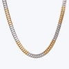 Interlocked Gold Plate Dual Tone Chain