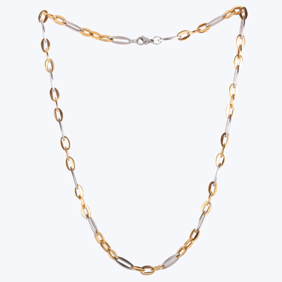 Gold, Platinum Plated Stainless Steel Chain