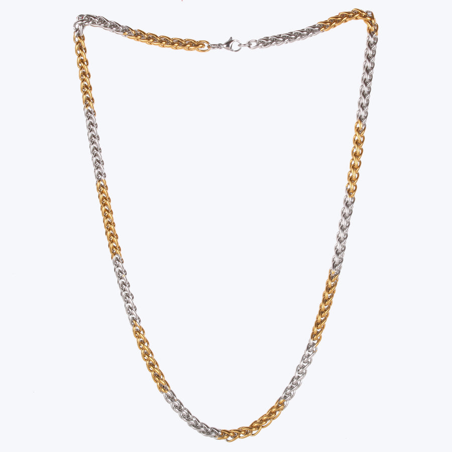 Interlocked Gold Plated Dual Tone Chain