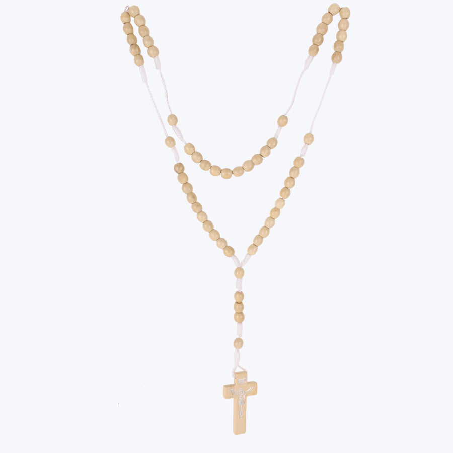 Holy Cross With Yellow Beads