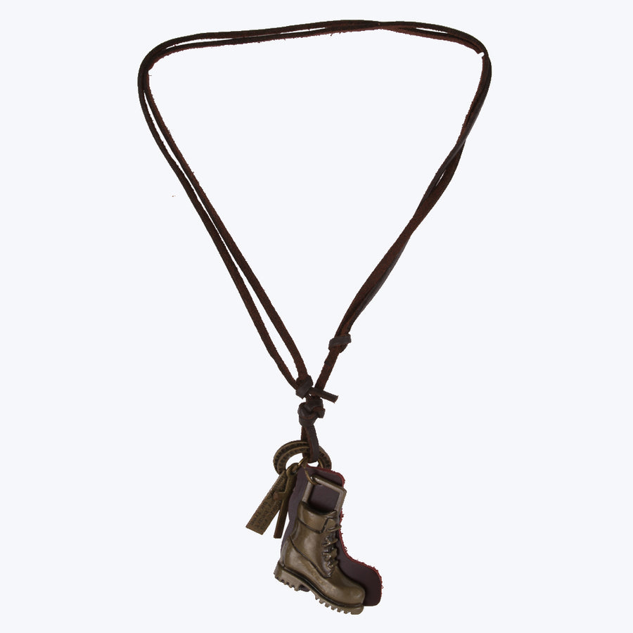 Fashionable Locket Chain - Leather