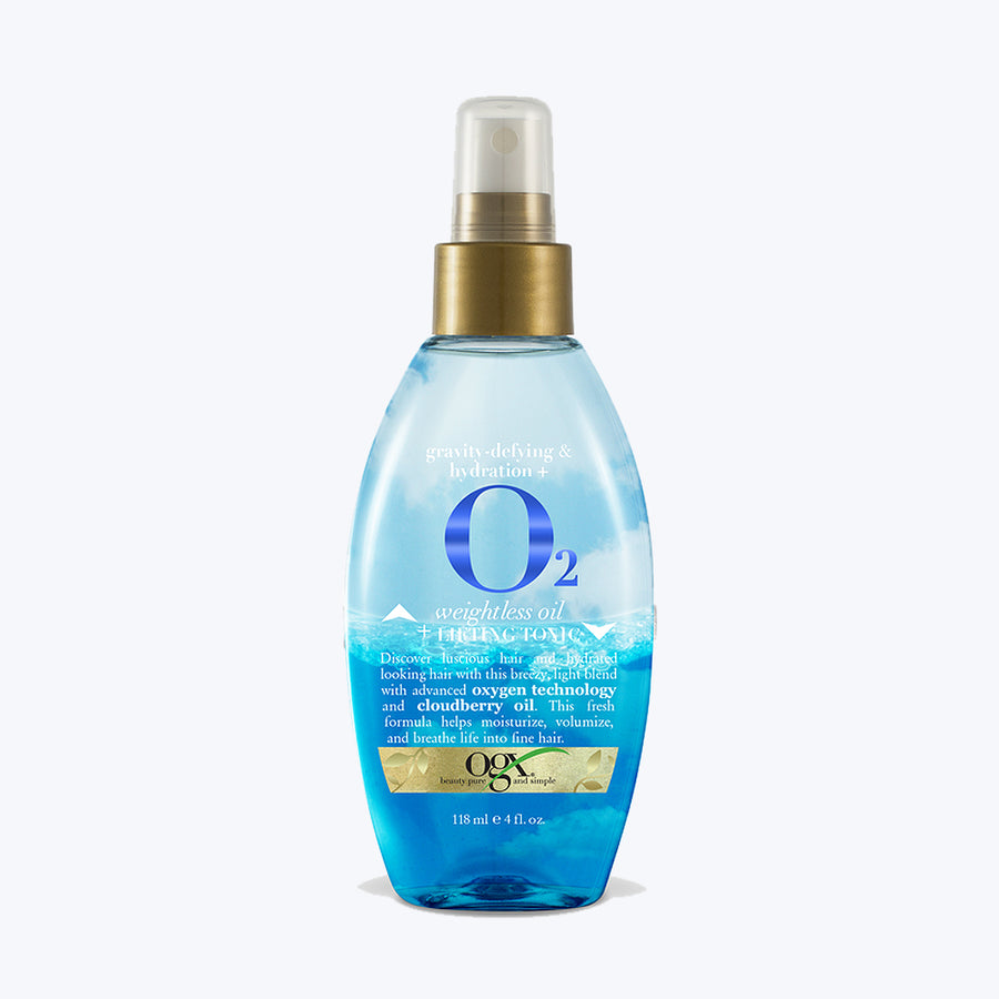 OGX Gravity Defying & Hydration + O2 Weightless Oil + Lifting Tonic 118ml