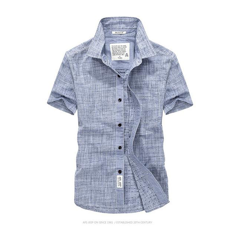 Short Sleeve Men's Summer Casual Oxford Shirt