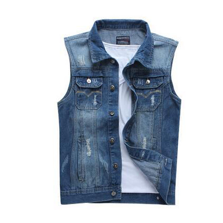 Denim vest New  casual  jean coat - Bruce Lee