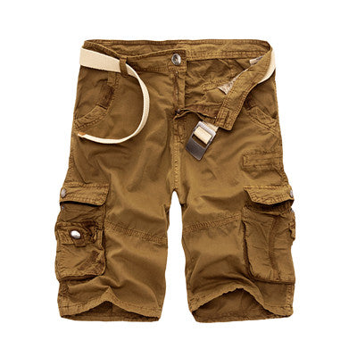 HANQIU Mens Military Cargo /Cotton Loose Work Casual Short