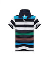Striped Polo Short Sleeve Shirt - Lance Donovan