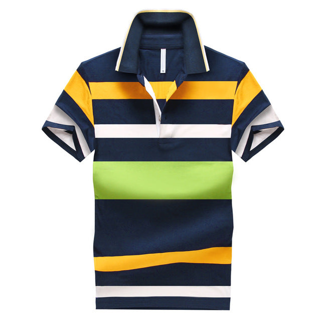 Classic Striped polo Short Sleeve shirt - Lance Donovan