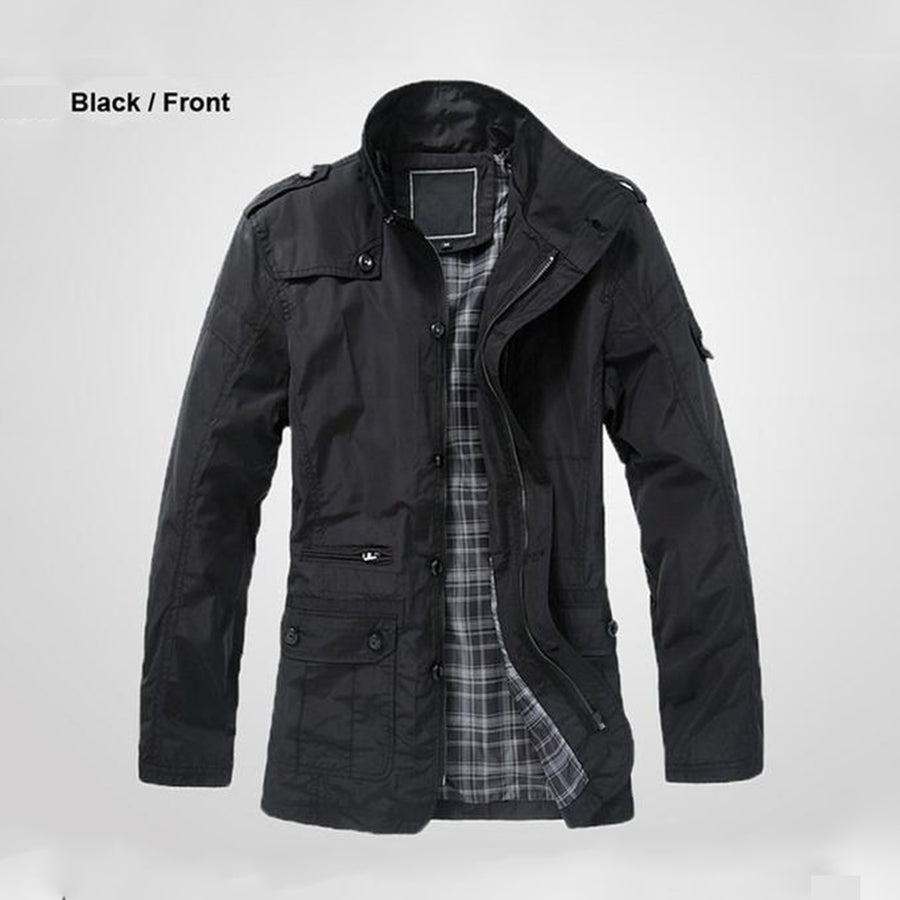 Men's autumn brand warm polo Jacket- HONESTY FACTORY