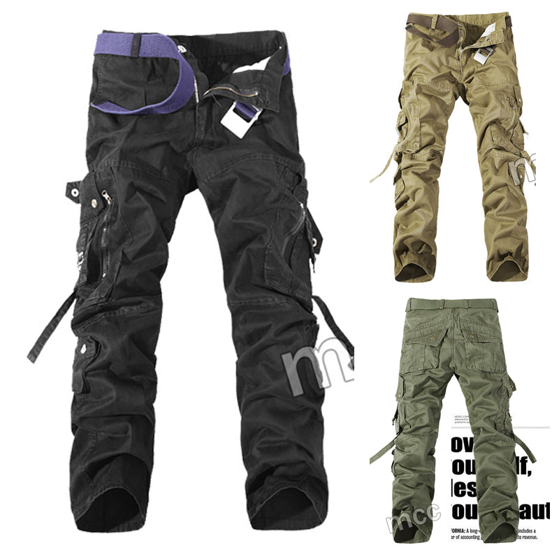 Rugged style Men's multi-pocket cotton cargo pants - Lance Donovan