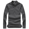 Stand-up Collar Linen t shirts  /  Long sleeve casual shirt - Lance Donovan