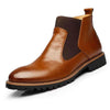 Tangnest Men's Leather Chelsea Boots