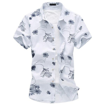 New Summer Short Sleeve Mens Shirts Linen - Zhenzhou