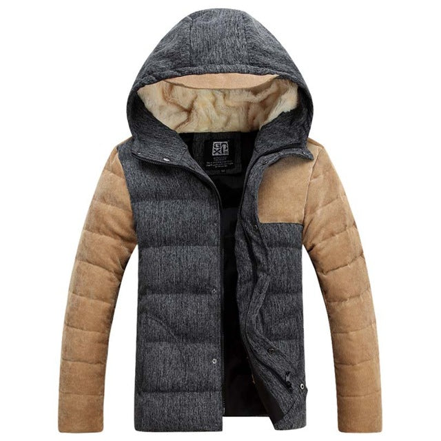 New Winter Thick Down Jackets /  White Duck Down Spliced Coats - Bruce Lee