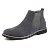 Tangnest Winter Chelsea Boots For Men / British Style Leather Ankle Boot