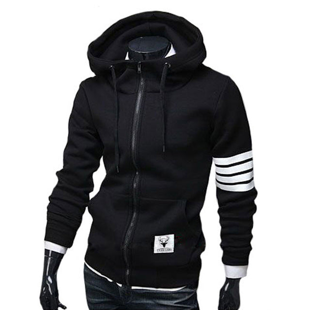 Mens Hoodie Sweatshirt  /  Zipper Moletom Sweatshirt
