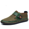 VESONAL Brand Spring Summer Genuine Leather Mesh Handmade Shoes