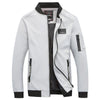 GOUHAI Men Bomber Jacket / Zipper Design / Stand Collar Slim Fit Jacket