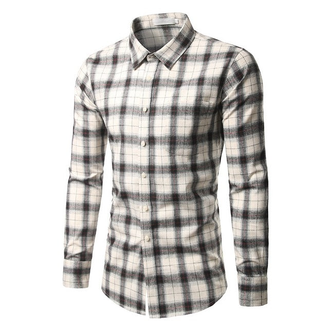 Spring / Summer Long Sleeve Office Shirts - Checked Shirts