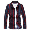 Long Sleeve  Branded  Casual Striped shirt -Zhenzhou