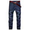 warm straight jeans  /  slim fleece winter jeans - Lzunion