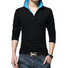 Qijue Long Sleeve Polo Male Pullovers Top Tees