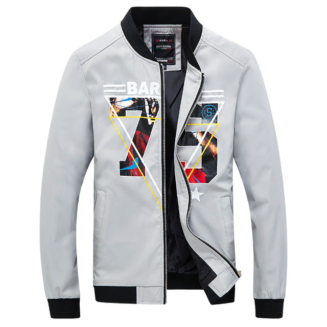Qijue Mens New Fashion Spring Bomber Jacket