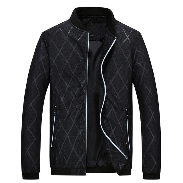 Qijue Fashion Mens Plaid Bomber Jacket Men