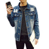Qijue Male Denim Jackets S-5XL Plus Size Jaqueta Jeans