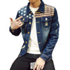 Qijue Men Denim Jackets Autumn Spring Man Jeans Coats