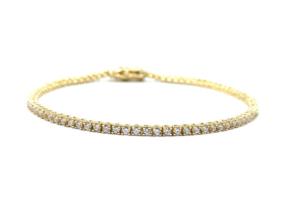 DIAMOND 14K GOLD TENNIS NECKLACE