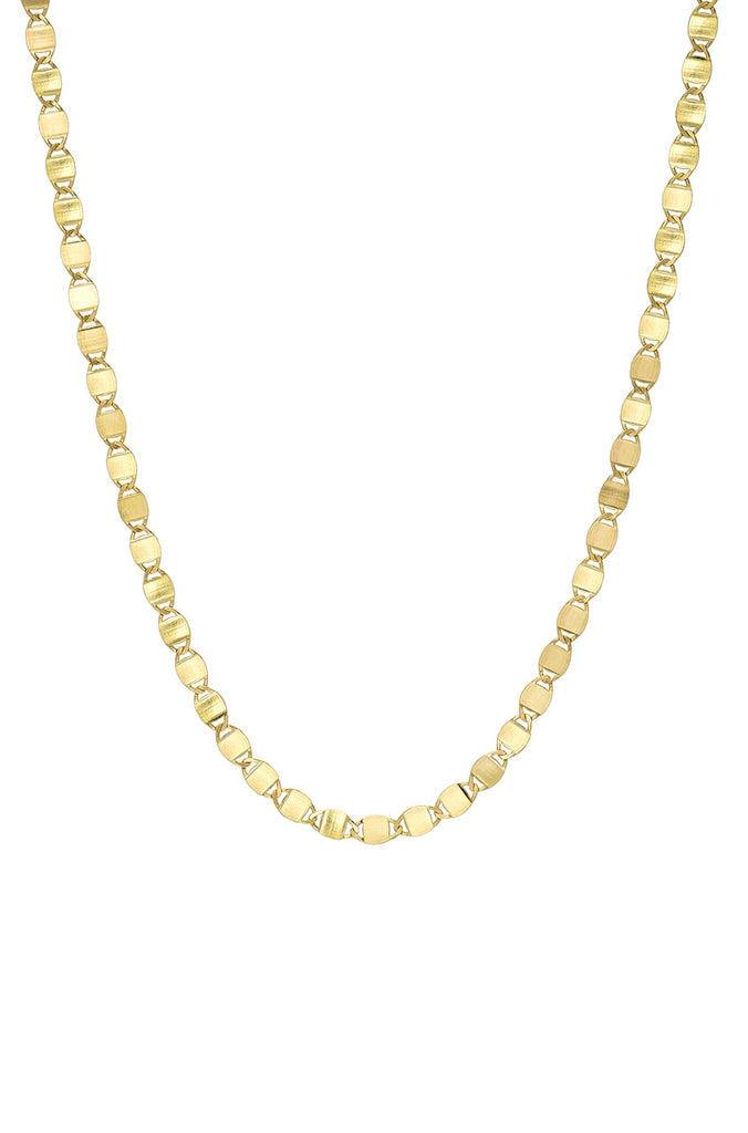 14K GOLD FLAT LINK CHAIN