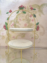 Rambling Rose Two Tier Stand from Crazy Daisy
