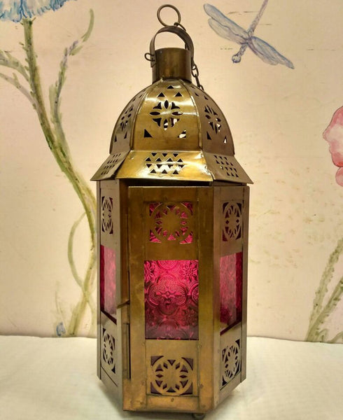 Ruby Red Dome Lantern at Crazy Daisy