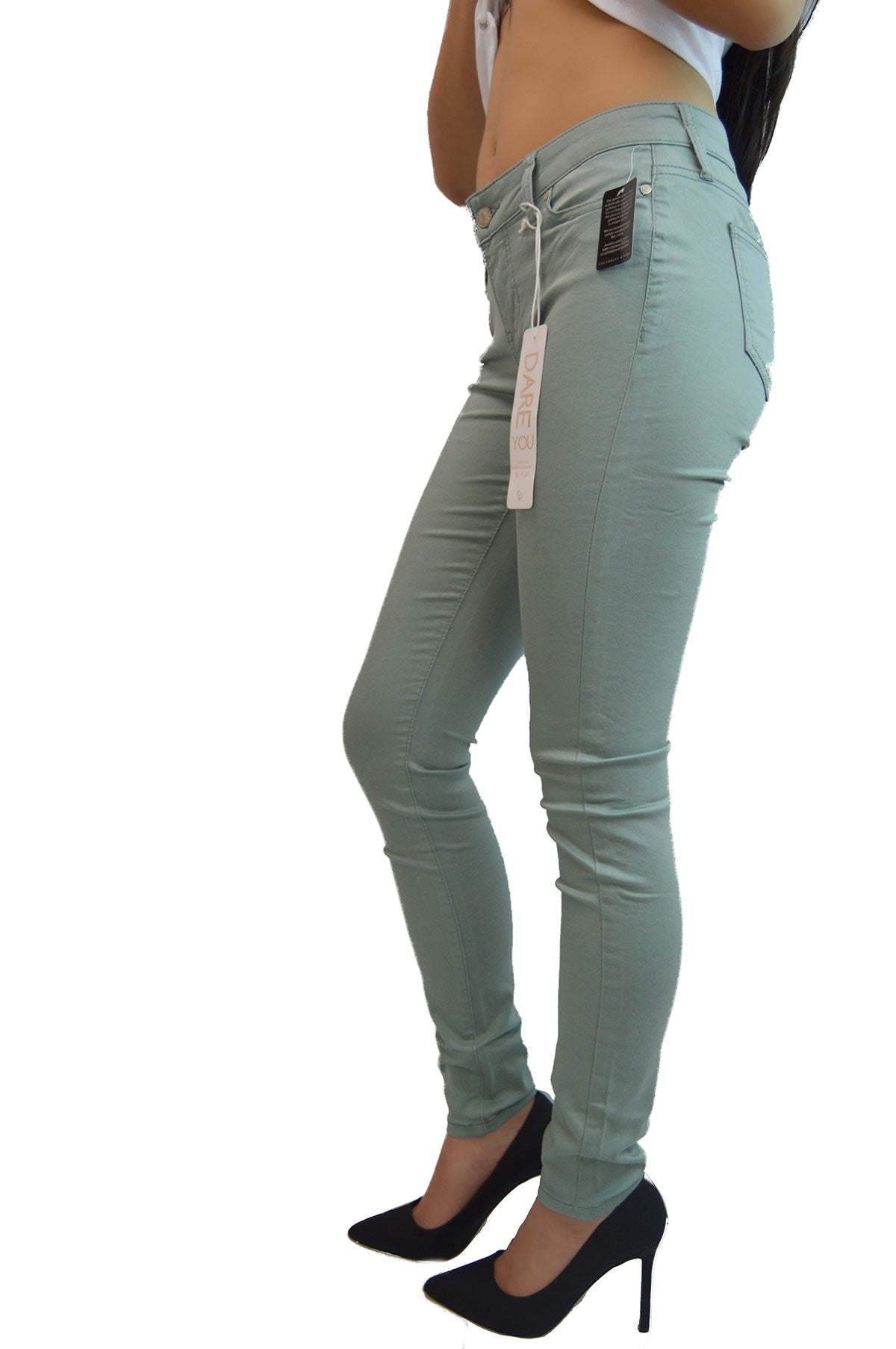 Celebrity Pink Chinois Green Mid-Rise Skinny Jeans Pants – 24 ...
