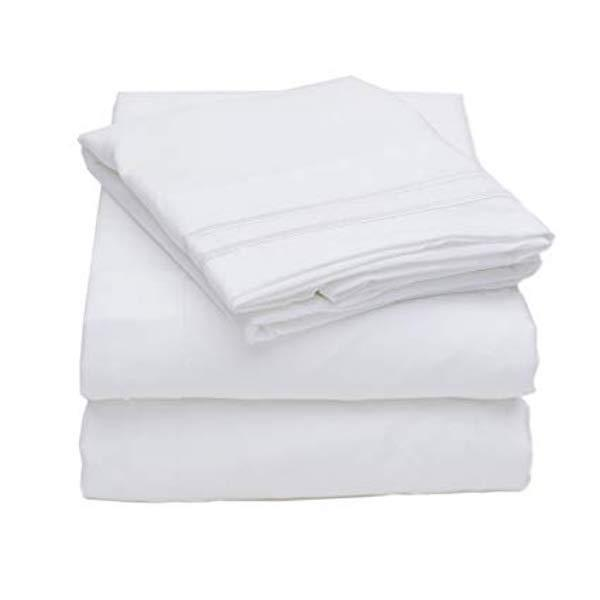 Bed Sheets King Size White 4PCE Sheet Set - AUS DESIGN-BEDROCKS