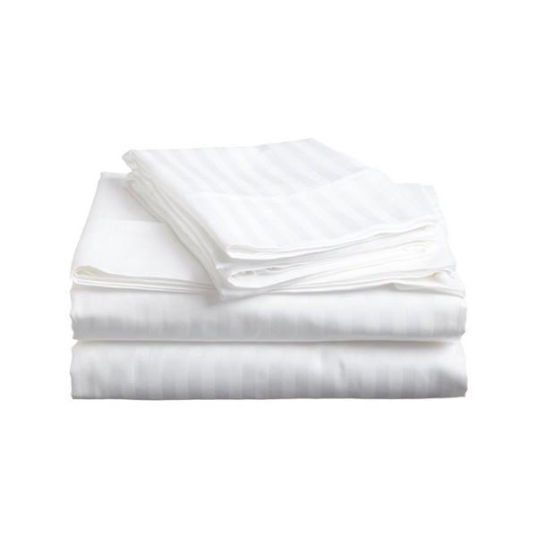 Bed Sheets Queen Size 4PCE Bedsheet Set White AUS DESIGN-BEDROCKS