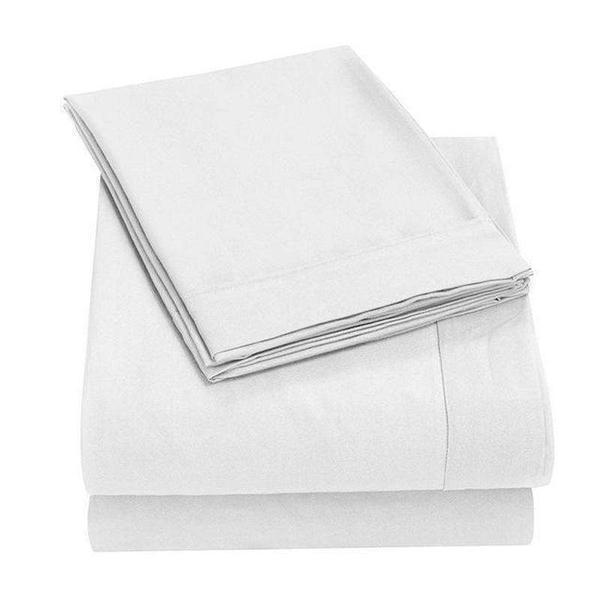 Bed Sheets Online  Ultimate White Bed Sheet Pack - 100% Cotton 4PCE - BEDROCKS