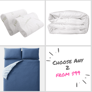 Classic Starter Pack - Quilt Cover Set - Memory Foam Pillows - Quilt - BEDROCKS