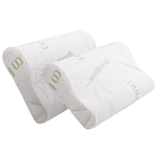 Pillows Online Australia Bamboo Pillow with Memory Foam Buy 1 Get 1 Free-BEDROCKS