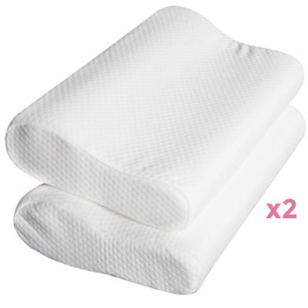 Pillows Online Australia REDUCED ON SALE! Set of 2 Deluxe Shredded Memory Foam Pillow-BEDROCKS