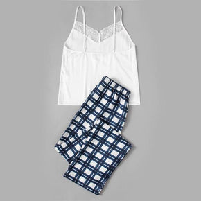 Sleepwear Womens Pants Sleeveless Pyjamas Set