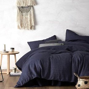 Quilt Cover Set 100% Pure French Linen Denim - BEDROCKS