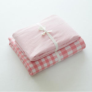 Quilt Cover Set  GINGHAM Powder Scatter Gingham  4pce - BONUS BED SHEET - BEDROCKS