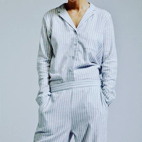Sleepwear Pyjamas 4HER Distressed Blue Striped - BEDROCKS