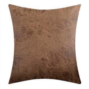Throw Cushion Covers Cafe Faux Leather Couch Cushions - BEDROCKS