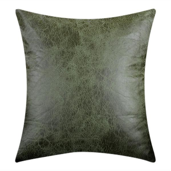 Throw Cushion Covers Khaki Faux Leather Couch Cushions - BEDROCKS