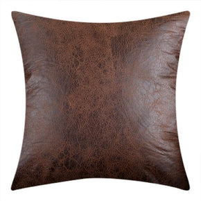Throw Cushion Covers Vintage Leather Look Couch Cushions - BEDROCKS