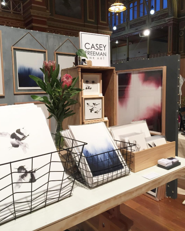 Casey Freeman Art at Finders Keepers Market Melbourne 2017