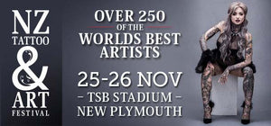 Order your tattoo supplies now for the NZ Tattoo & Art Festival