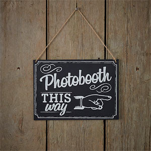vintage chalkboard photo booth sign
